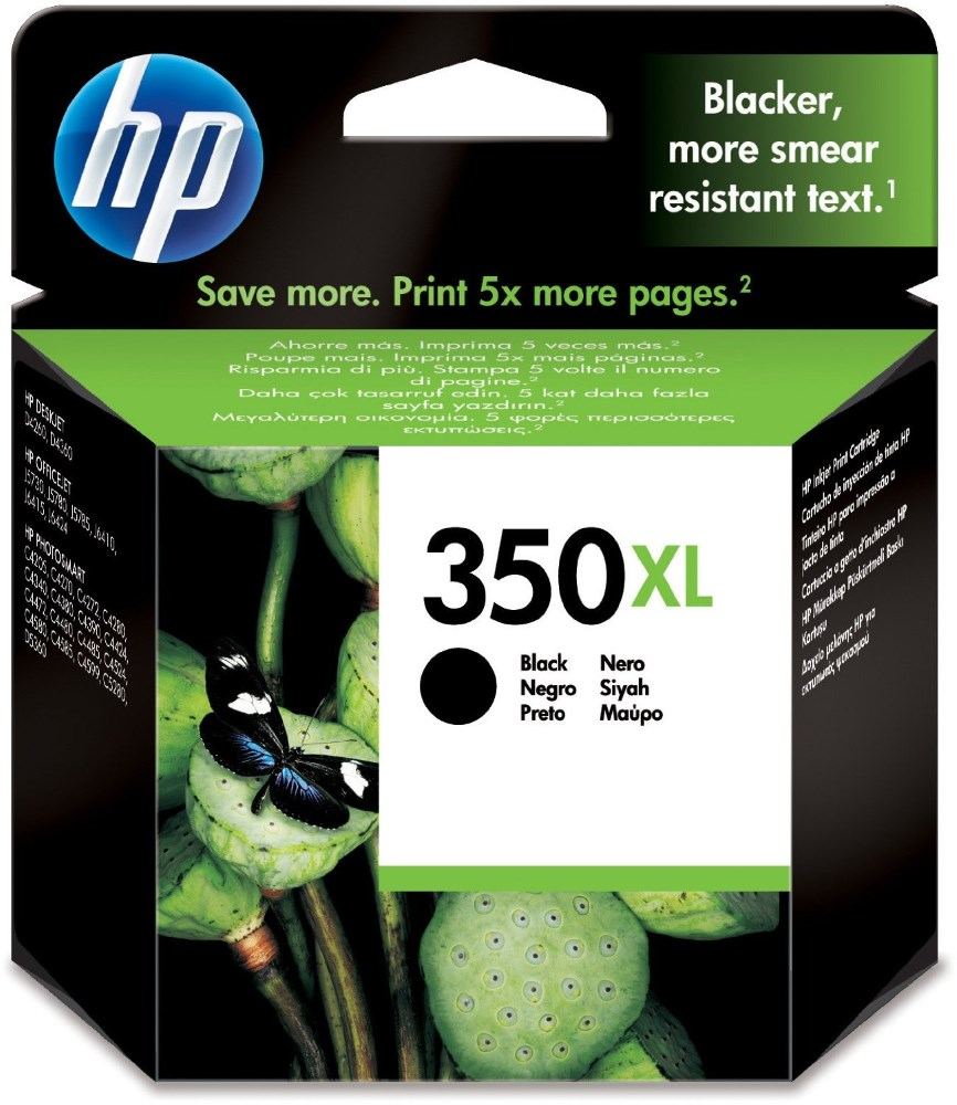 HP (350XL) - ink. náplň  černá Vivera originál
