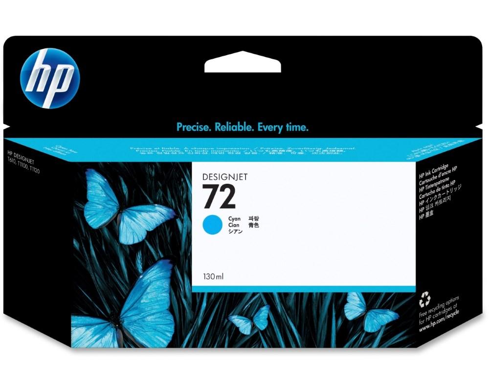 HP (72) Cyan ink. náplň pro DJ T1100, 130ml, C9371A  originál