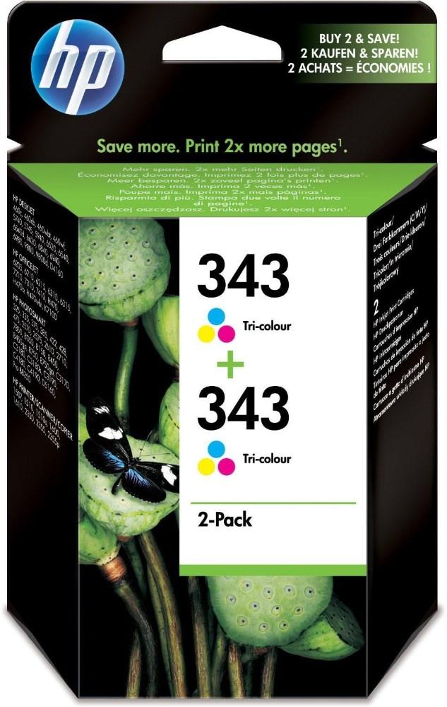 Cartridge inkoustová náplň HP HP 343 - ink. Tri-colour Vivera - 2 - balení CB332EE
