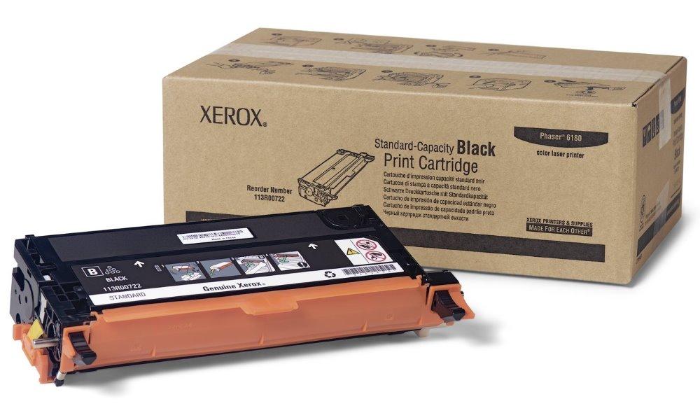 Toner Xerox 113R00722 černý Toner, originální, pro Xerox Phaser 6180, 3000 stran, černý