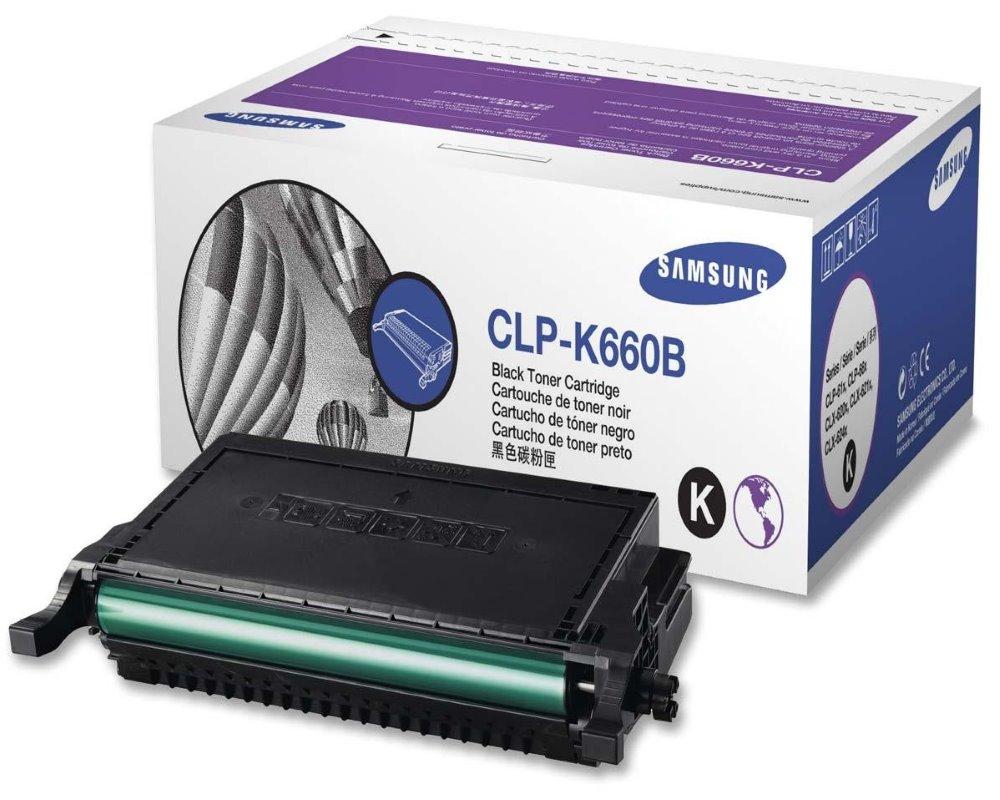 Toner SAMSUNG CLP-K660B černý Toner, pro SAMSUNG CLP-610, 5500 stran, černý CLP-K660B/ELS