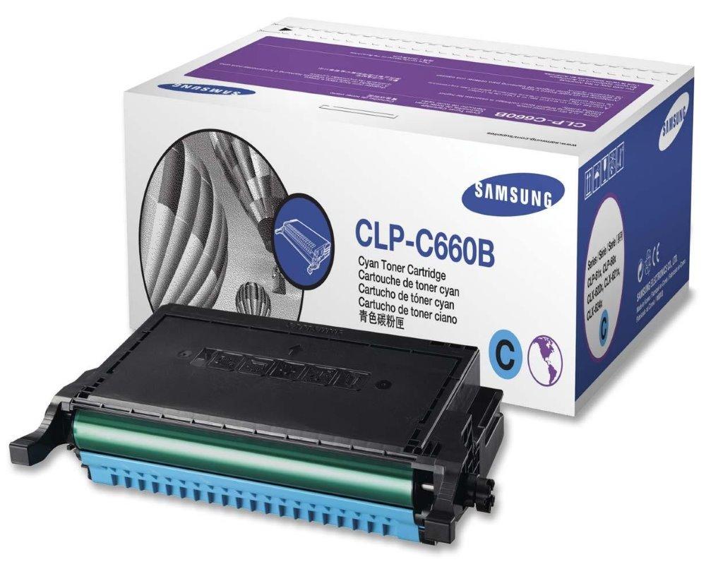 Toner SAMSUNG pro CLP-610,660,CLX-6210 azurový,5.000 stran CLP-C660B/ELS
