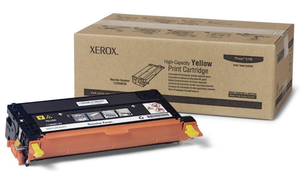 Xerox original toner Phaser 6180/ 6000s/ žlutý