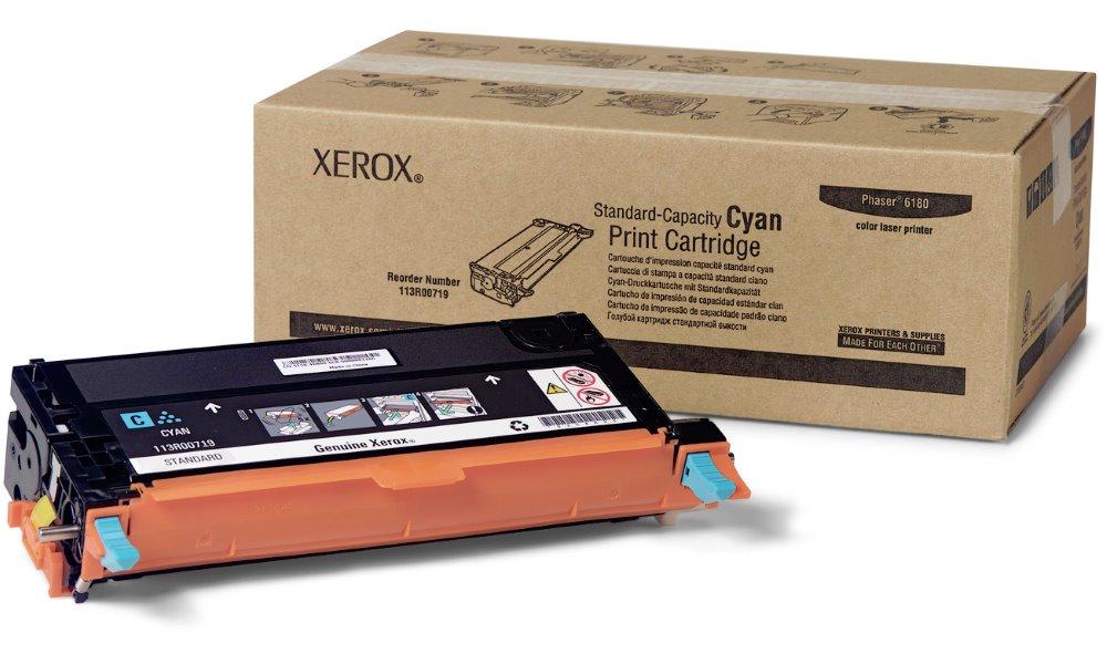 Toner Xerox 113R00719 modrý Toner, originální, pro Xerox Phaser 6180, 2000 stran, modrý