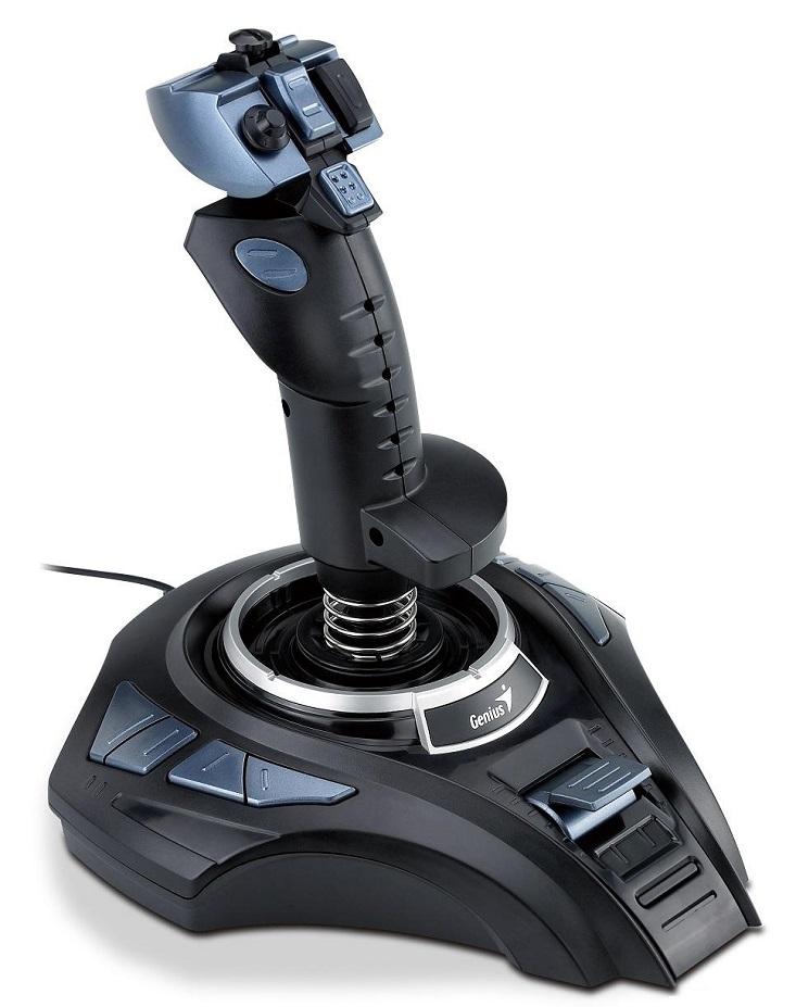 Joystick Genius MetalStrike Pro Joystick, USB, vibrace, černý 31600003100