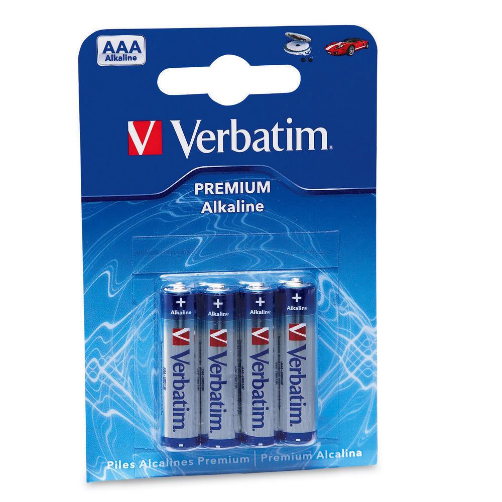 Baterie VERBATIM 49920 Baterie, alkalické, 4 ks v balení, mini tužkové AAA 49920