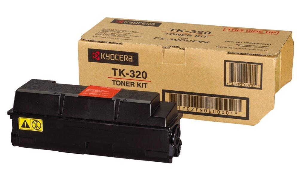 Toner Kyocera TK-320 černý Toner, originální, pro Kyocera FS-3900DN, 4000DN, 15 000 stran, černý