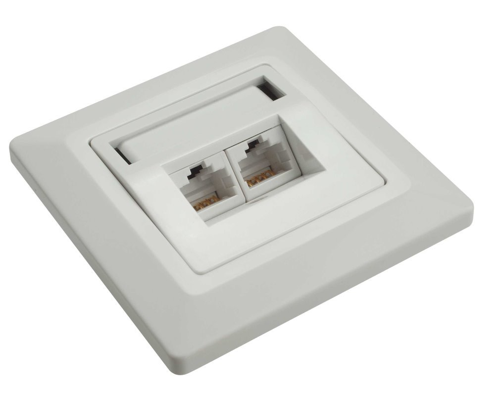 Datová zásuvka Solarix SX9-2-6-UTP-WH Datová zásuvka, CAT6 UTP, 2 x RJ45, pod omítku, bílá 23100093