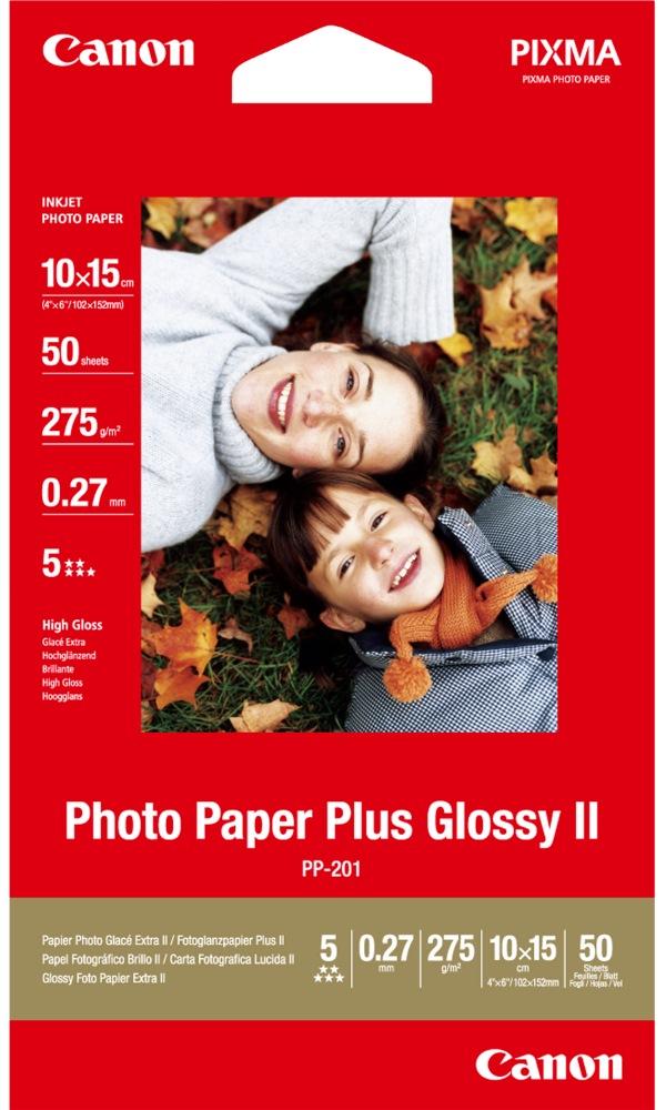 Fotopapír Canon Plus Glossy II PP-201 Fotopapír, 10x15cm, lesklý, 50ks 2311B003