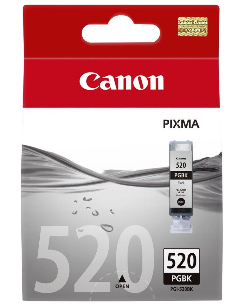 Inkoustová náplň Canon PGI-520Bk černá Inkoustová náplň, originální, pro Canon Pixma iP3600, iP4600, iP4700, MP5x0, MP6x0, MP9x0, MX8x0, černá 2932B001