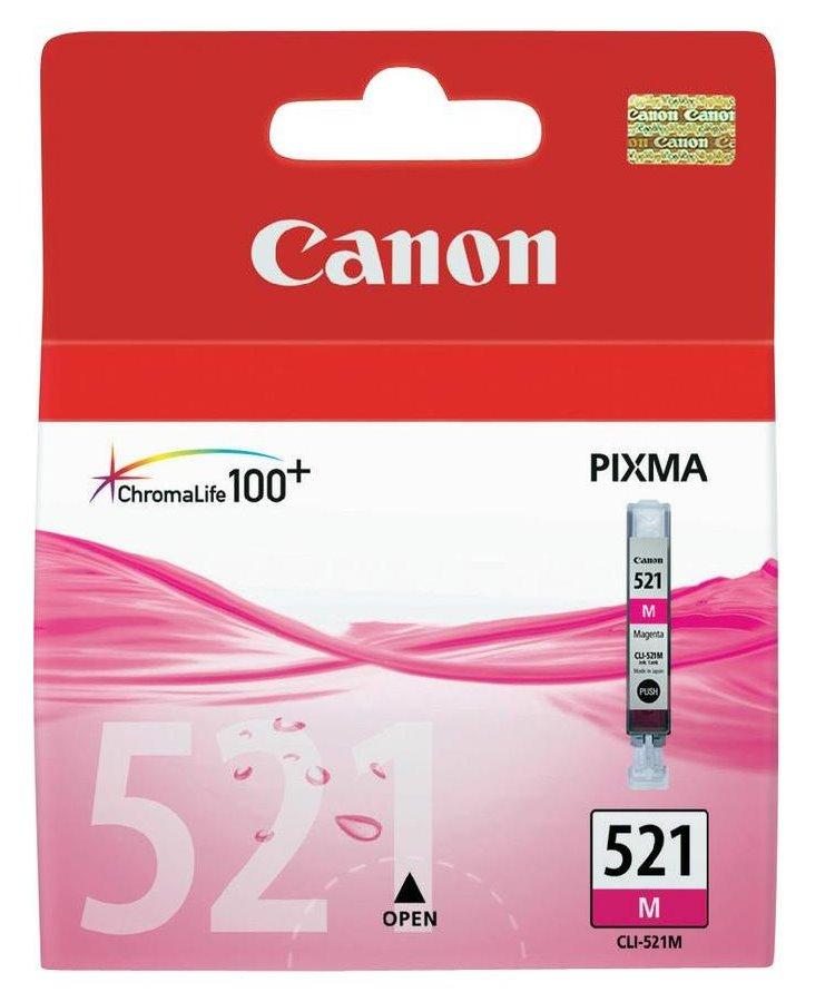 Inkoustová náplň Canon CLI-521M purpurová Inkoustová náplň, originální, pro Canon Pixma iP3600, iP4600, MP540, MP620, MP630, MP980, purpurová 2935B001
