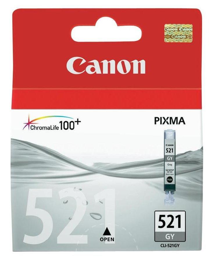 Cartridge inkoustová náplň Canon CLI-521GY, šedivá 2937B001