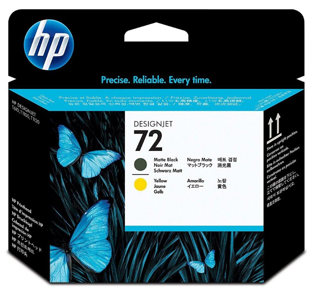 Tisková hlava HP 72 C9384A Tisková hlava, matná černá a žlutá inkoustová náplň, originální C9384A