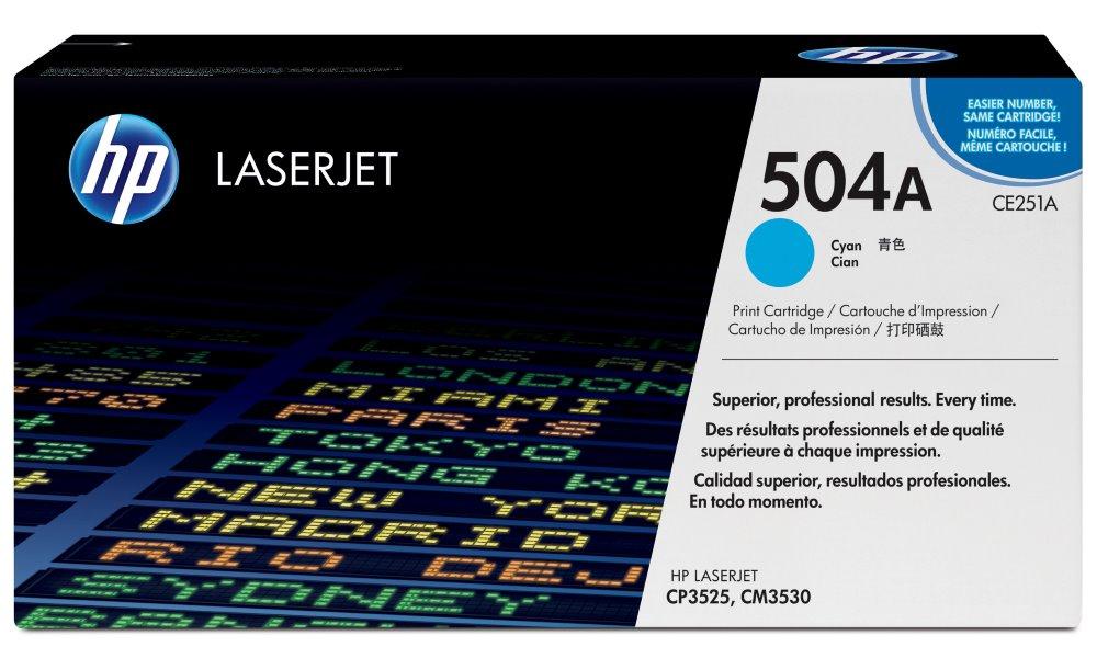 Toner HP CE251A azurový, 7000 str. CE251A