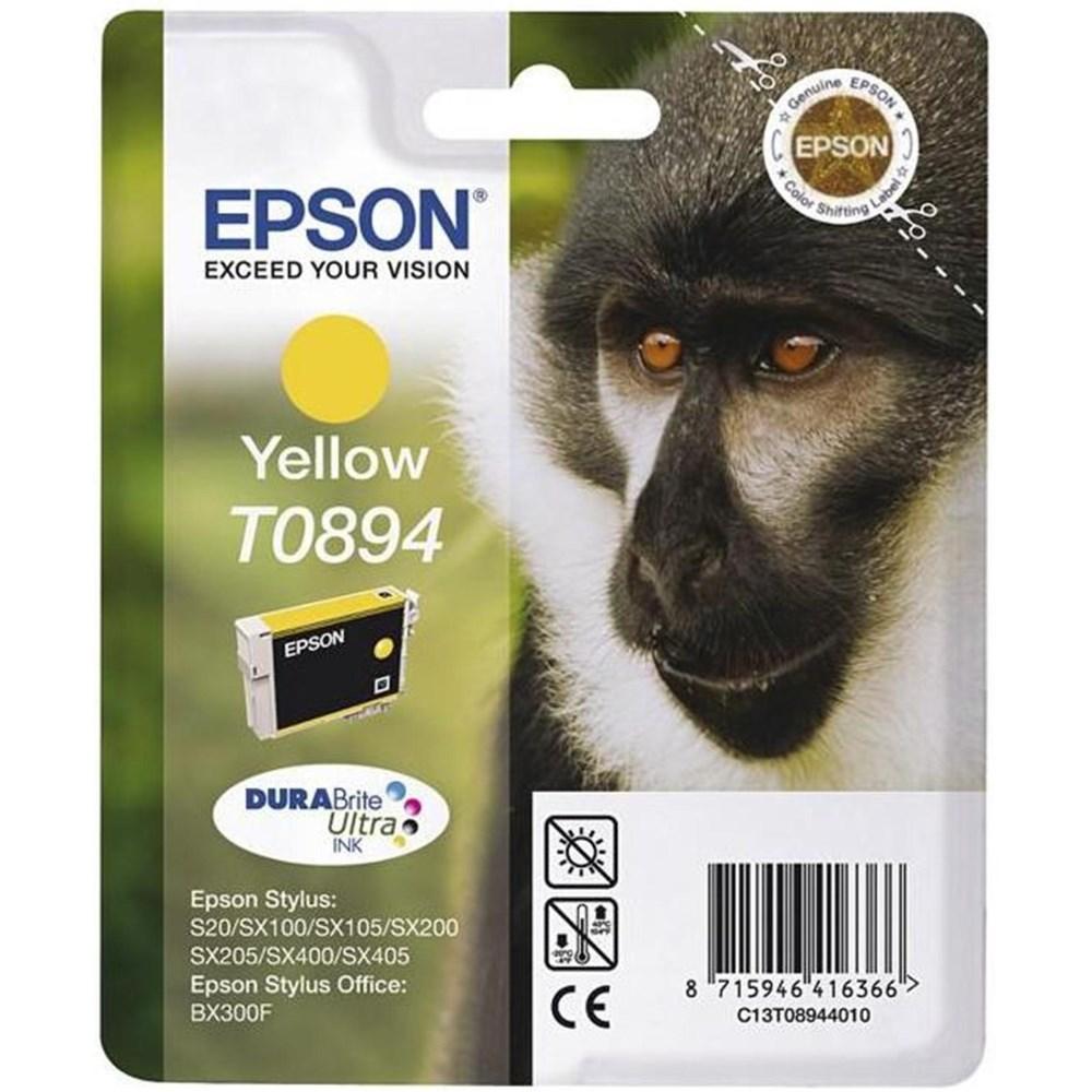 Cartridge inkoustová náplň Epson , C13T089440, S20, SX100, SX200, SX400, Žlutá C13T08944010