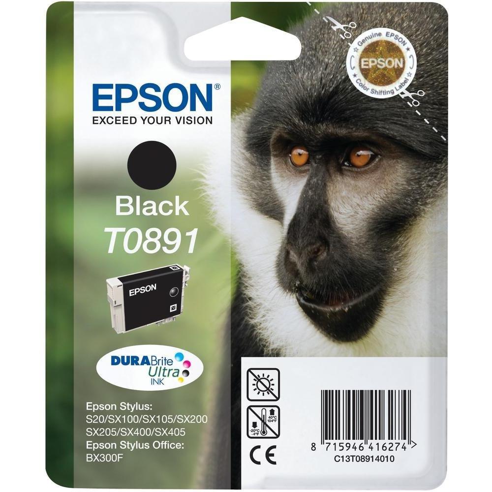 Inkoustová náplň Epson C13T08914011 Inkoustová náplň, pro Epson Stylus S20, SX100, SX200, SX400, 5,8 ml, černá C13T08914011