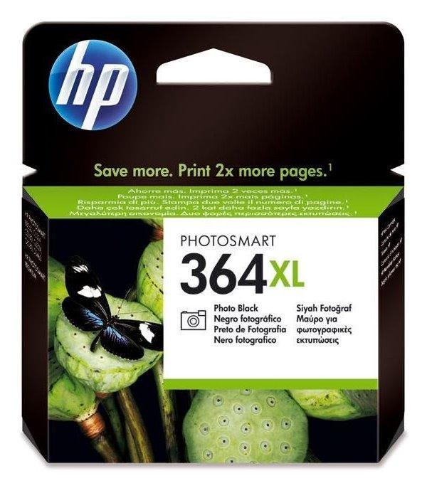 Inkoustová náplň HP 364XL CB322EE černá Inkoustová náplň, originální, pro HP Photosmart Plus, Premium, Premium Fax, B8550, D5460, C5380, C6380, XL, černá CB322EE