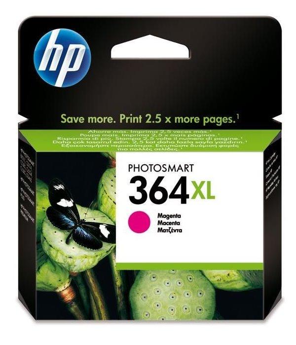 Inkoustová náplň HP 364XL CB324EE purpurová Inkoustová náplň, originální, pro HP Photosmart Plus, Premium, Premium Fax, B8550, D5460, C5380, C6380, XL, purpurová CB324EE