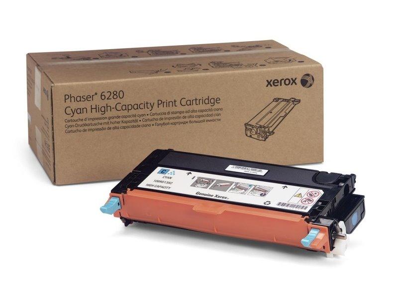 Toner Xerox 106R01400 modrý Toner, originální, pro Xerox Phaser 6280, 5900 stran, modrý 106R01400