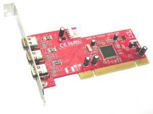 Řadič Kouwell FW-101TI Řadič, PCI, FireWire, 3x 1394a port, TI chipset FW-101TI