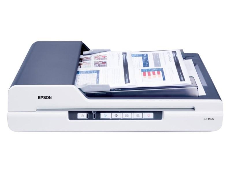 Skener EPSON GT-1500 Skener, stolní, A4, 1200 x 2400dpi, ADF, USB B11B190021