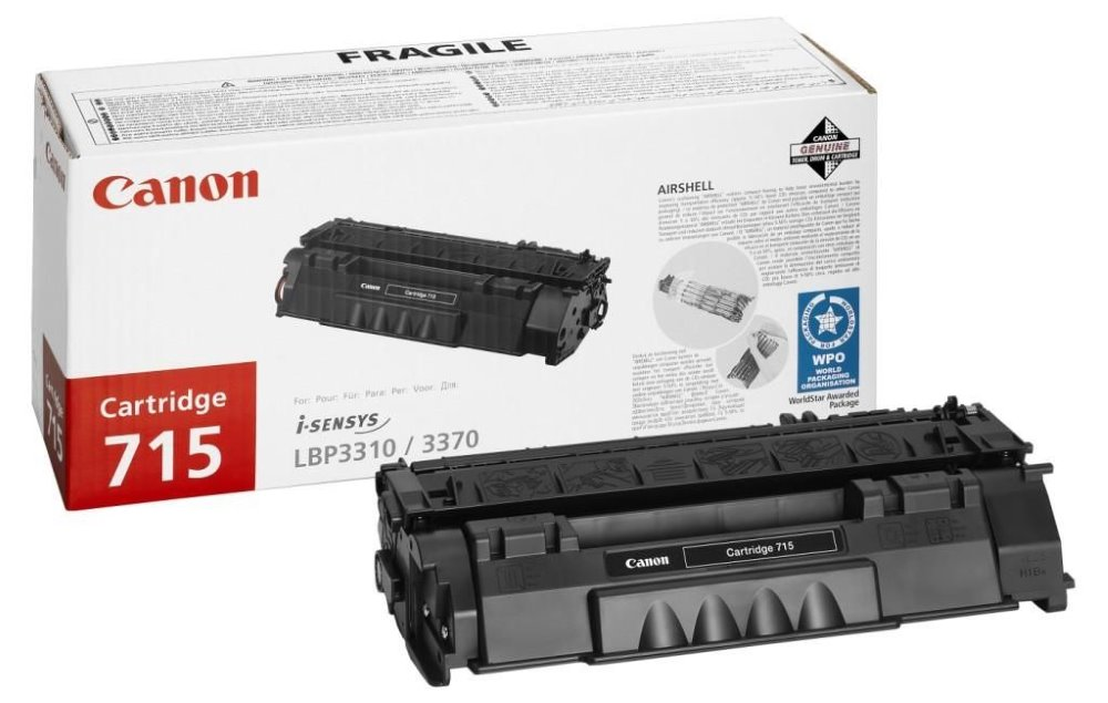 Canon toner CRG-715/ LBP-3370 + LBP-3310/ 3000 stran/ Černý