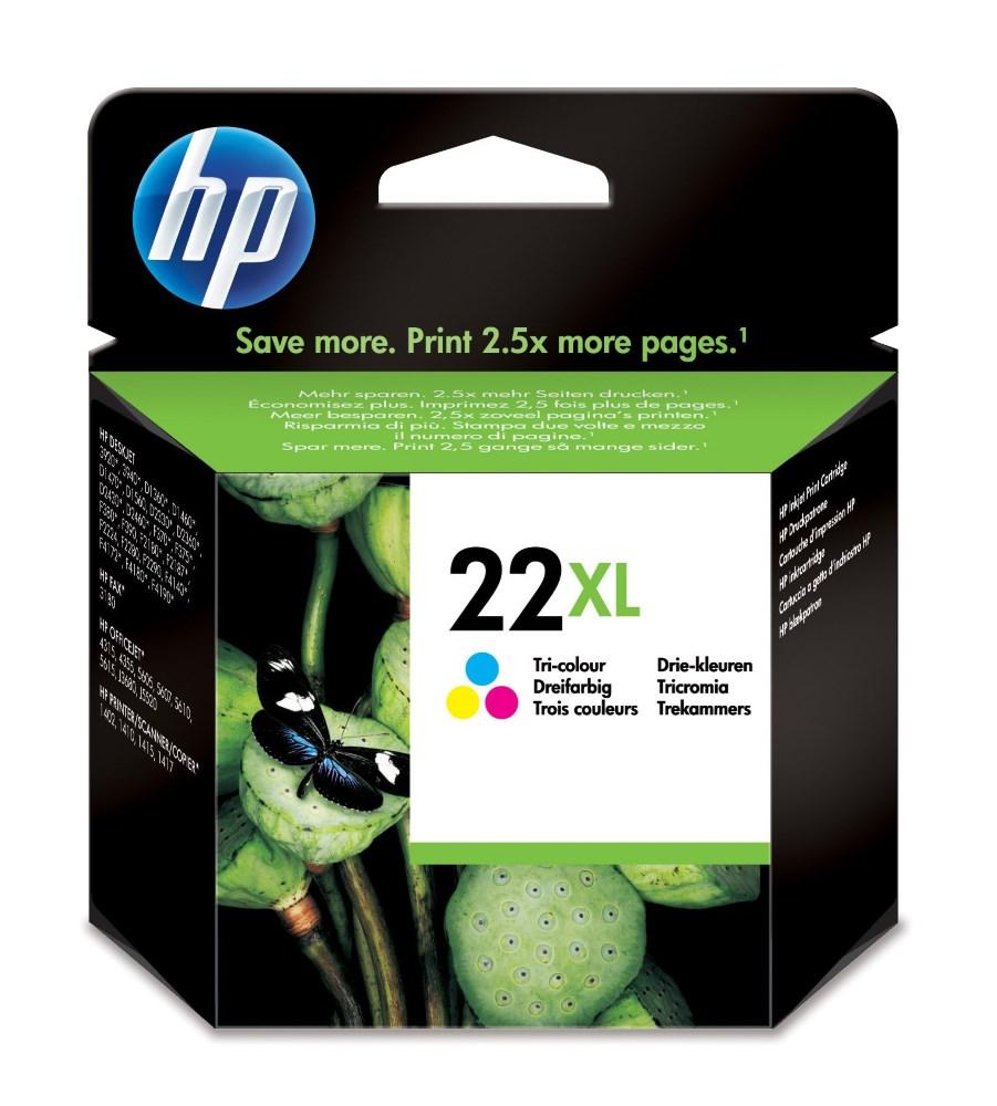 Cartridge inkoustová náplň HP 22XL HP C9352CE - ink. barevná, DJ 3920, 3940 C9352CE