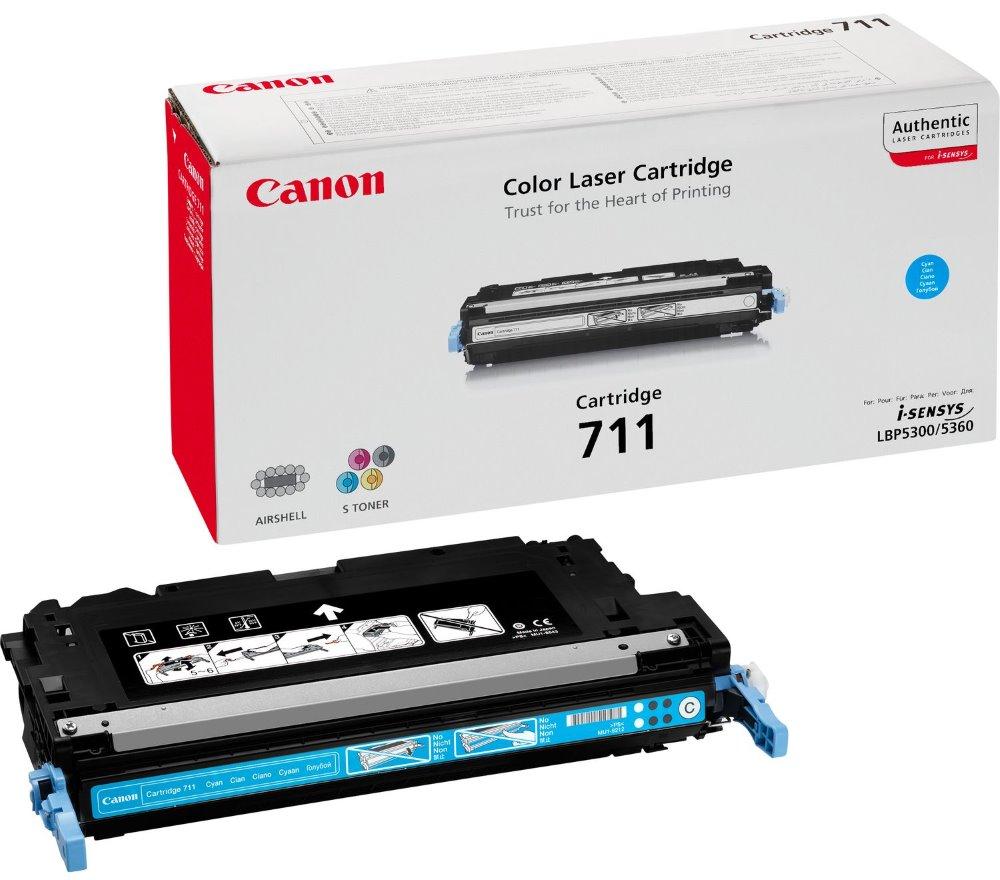 Canon toner CRG-711C/ LBP-5300 + LBP-5360/ 6000 stran/ Modrý