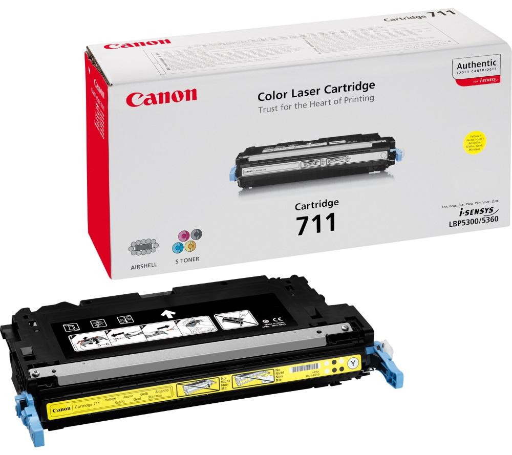 Canon toner CRG-711Y/ LBP-5300 + LBP-5360/ 6000 stran/ Žlutý