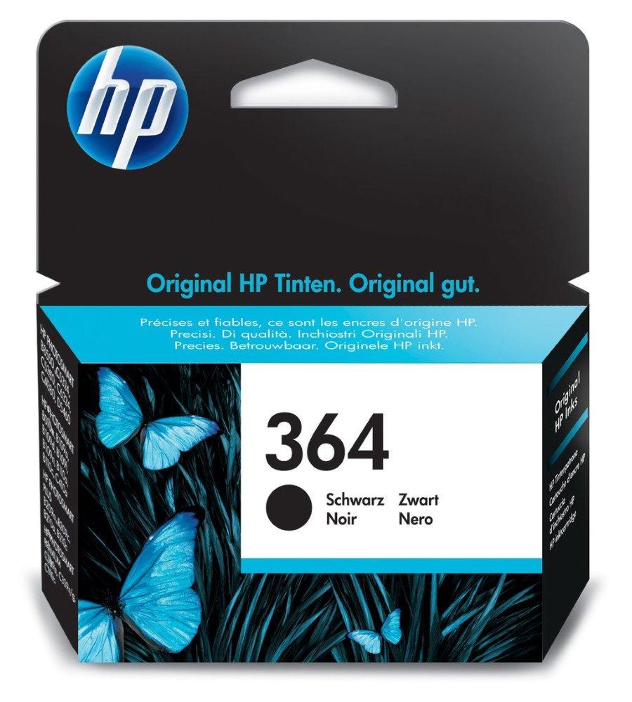 Inkoustová náplň HP 364 CB316EE černá Inkoustová náplň, originální, pro HP Photosmart Plus, Premium, Premium Fax, B8550, D5460, C5380, C6380, černá CB316EE