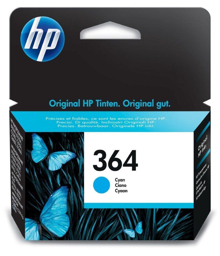 Inkoustová náplň HP 364 CB318EE modrá Inkoustová náplň, originální, pro HP Photosmart Plus, Premium, Premium Fax, B8550, D5460, C5380, C6380, modrá CB318EE