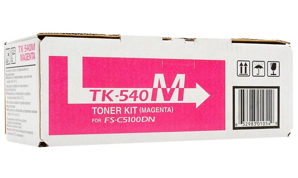 Toner Kyocera TK-540M červený Toner, originální, pro Kyocera FS-C5100DN, 4000 stran, červený