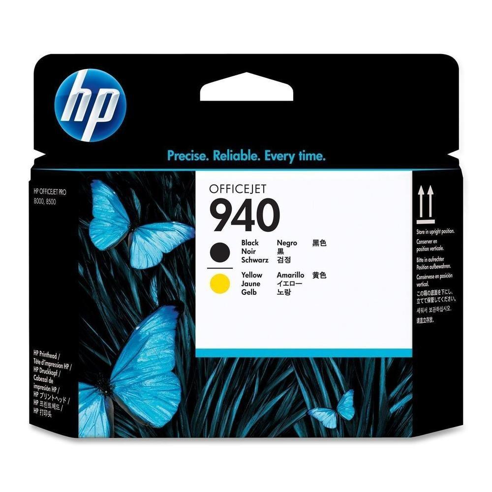 HP C4900A černá a žlutá inkoustová hlava 940 originál
