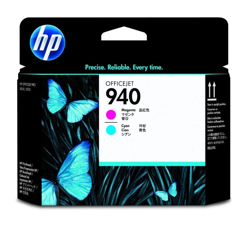 HP C4901A azurová a purpurová inkoustová hlava 940 originál