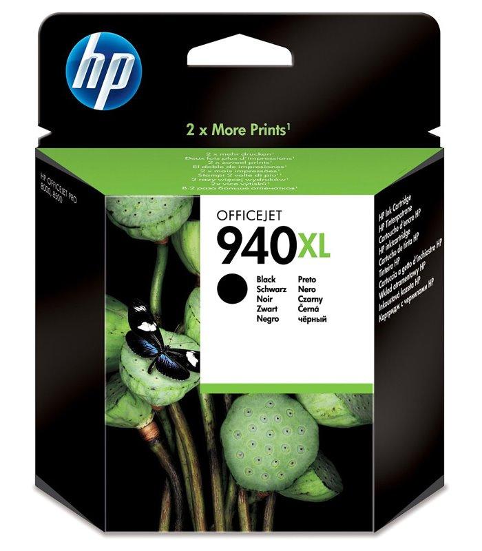 Inkoustová náplň HP 940XL černá Inkoustová náplň, originální, pro HP OfficeJet Pro 8000, 8500, černá C4906AE