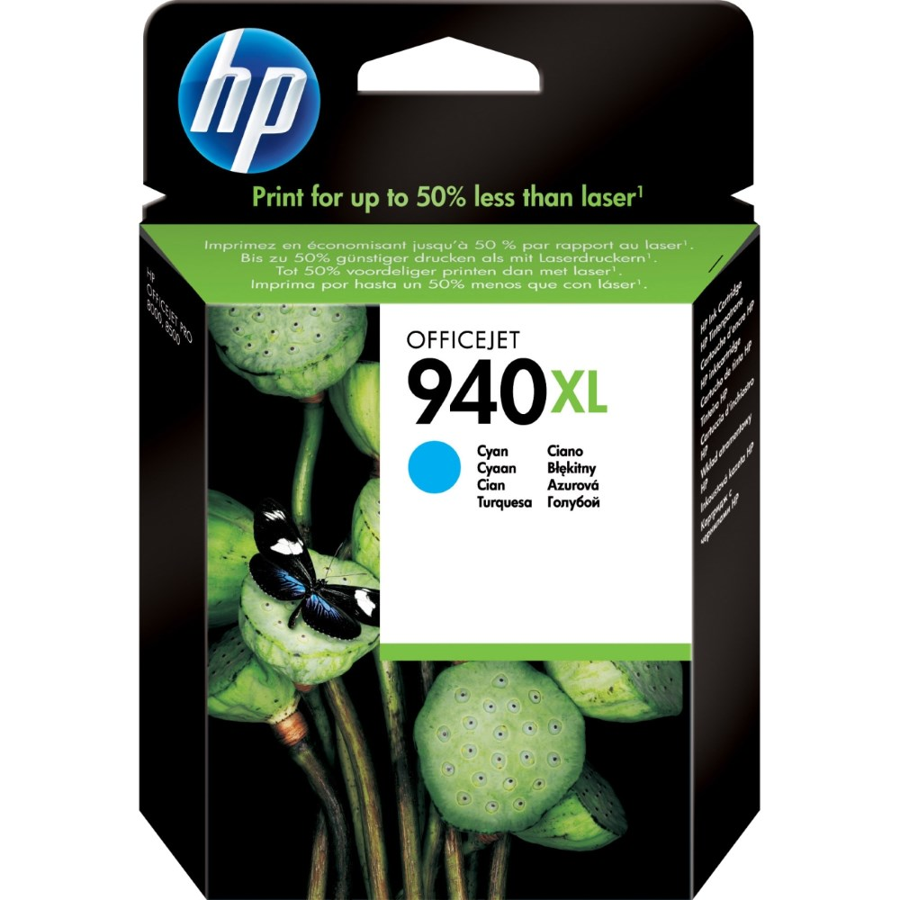 Inkoustová náplň HP 940XL C4907AE modrá Inkoustová náplň, originální, pro HP Officejet Pro 8500, 8500 Wireless, Pro 8000, Pro 8000 Wireless, XL, modrá C4907AE