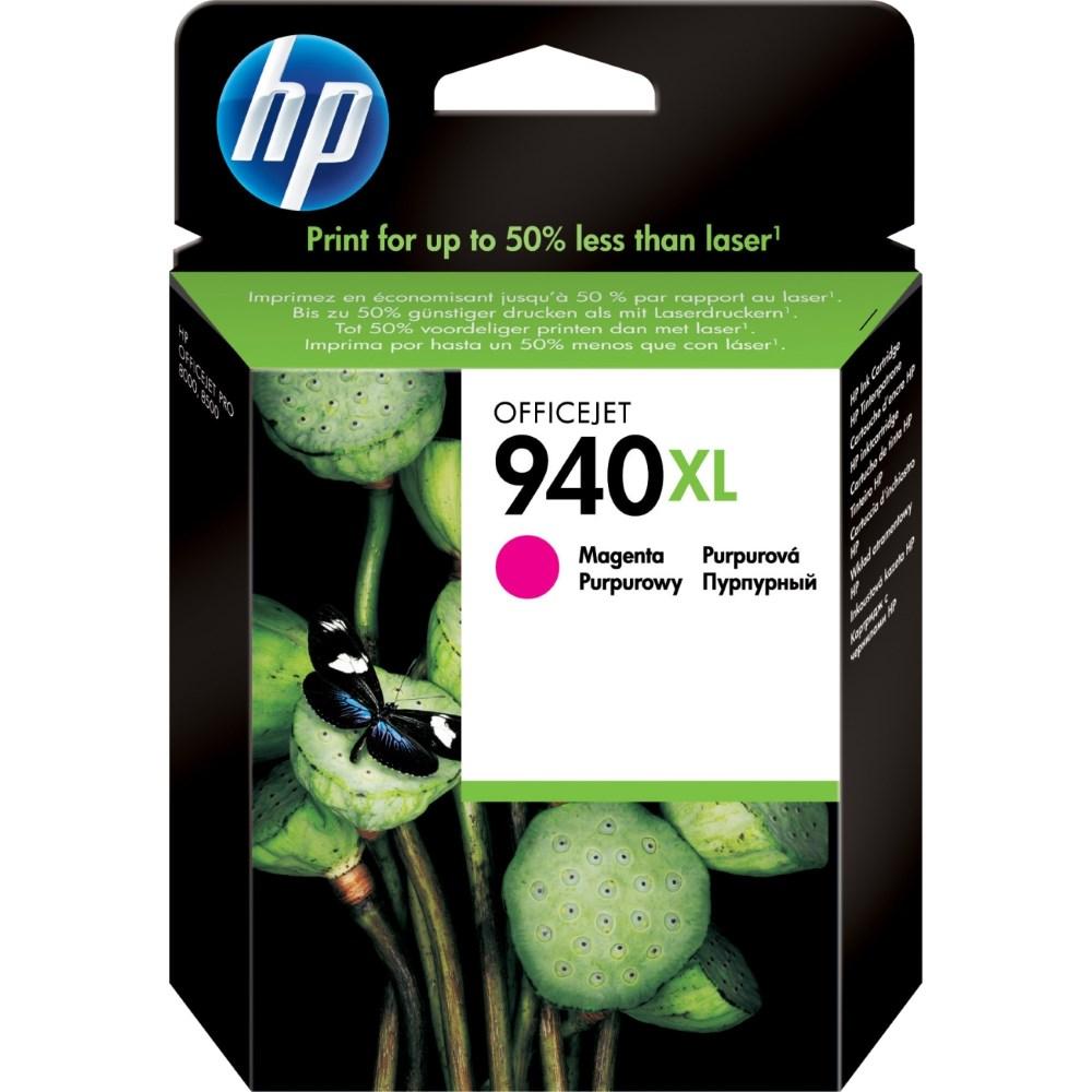 Inkoustová náplň HP 940XL C4908AE purpurová Inkoustová náplň, originální, pro HP Officejet Pro 8500, 8500 Wireless, Pro 8000, Pro 8000 Wireless, XL, purpurová C4908AE