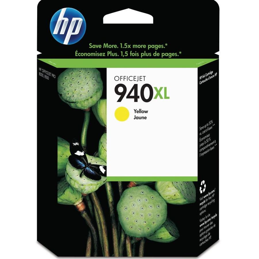 Inkoustová náplň HP 940XL CH561EE žlutá Inkoustová náplň, originální, pro HP Officejet Pro 8500, 8500 Wireless, Pro 8000, Pro 8000 Wireless, XL, žlutá C4909AE