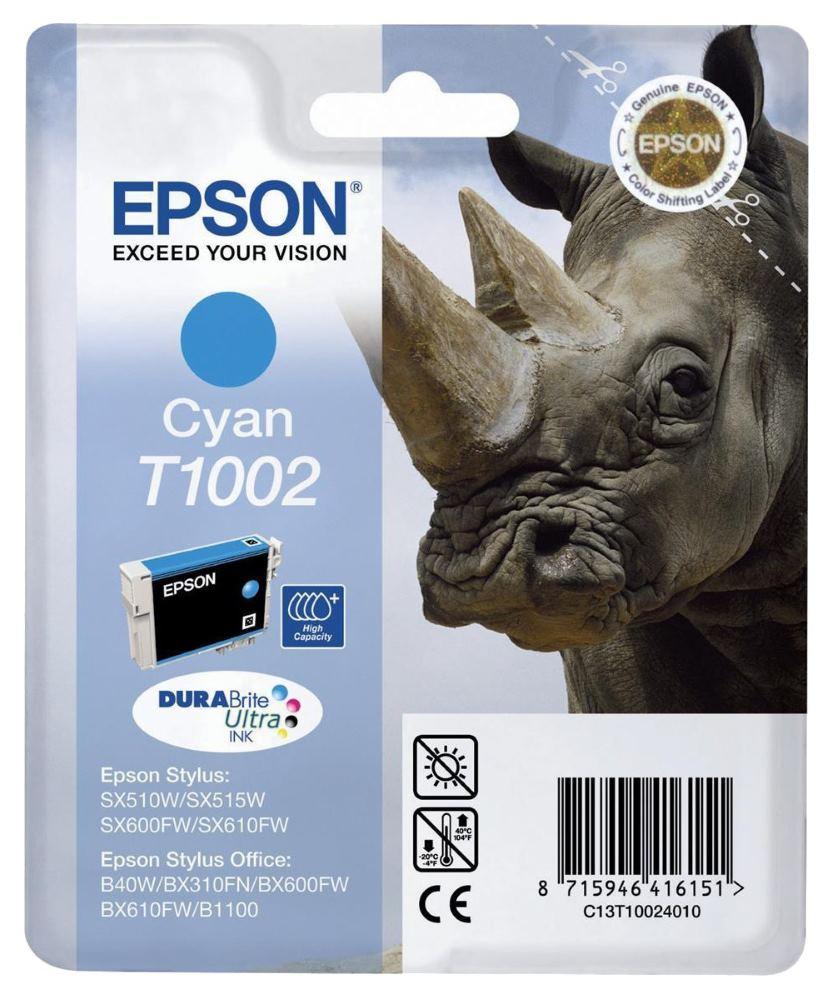 Cartridge inkoustová náplň Epson , C13T10024010, Stylus Office B40W, SX600FW, Modrá C13T10024010