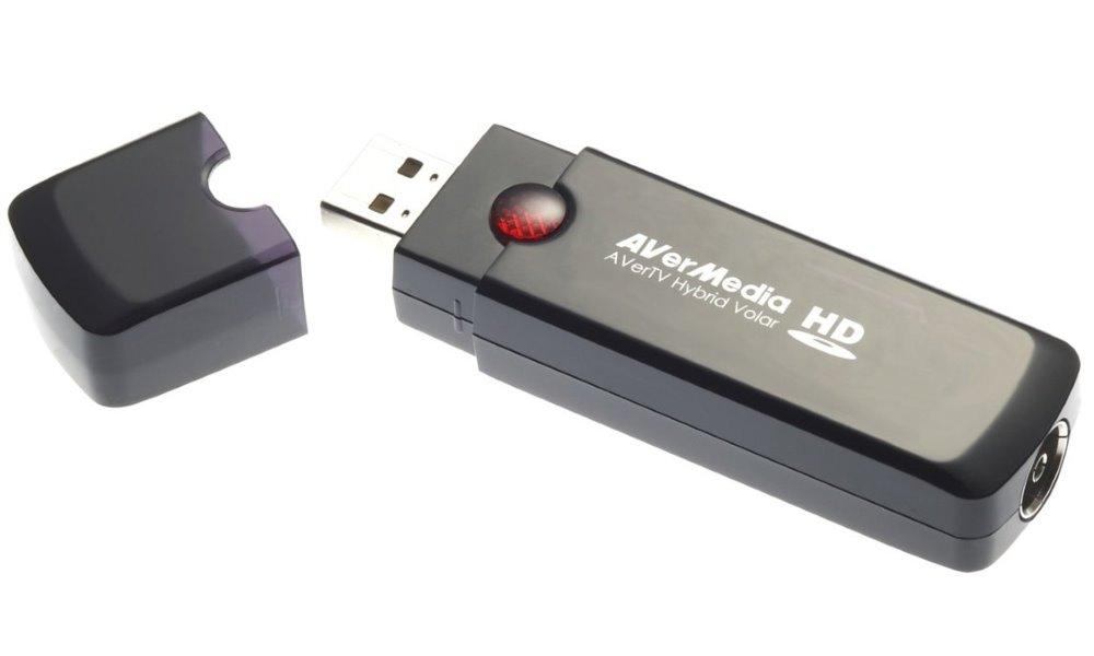 TV tuner AVERMEDIA AVerTV Hybrid Volar HD TV tuner, hybridní, externí, USB, DVB-T, analog, HDTV, anténa, dálkový ovladač 61H830HBF0AB