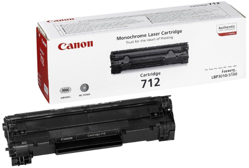 Toner Canon CRG-712 černý Toner, originální, pro Canon LBP-3010 + 3100, 1500 stran, černý 1870B002