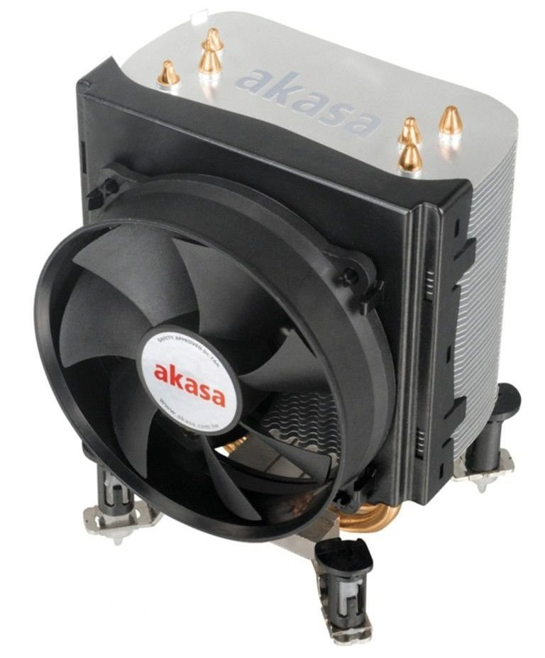 Chladič AKASA AK-968X4 Chladič, pro Intel s.775,1156,1366 AMD2,AMD3, 9,2cm fan, černý, heatpipes AK-968
