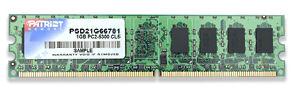 Operační paměť RAM Patriot 1GB 800MHz Operační paměť, DDR2 1GB SL PC2-6400 800MHz CL6 PSD21G800816
