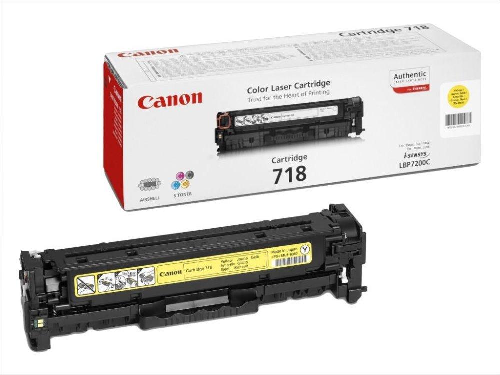 Toner Canon CRG-718Y pro LBP-7200, MF-80x0, 2900 stran, Žlutý 2659B002