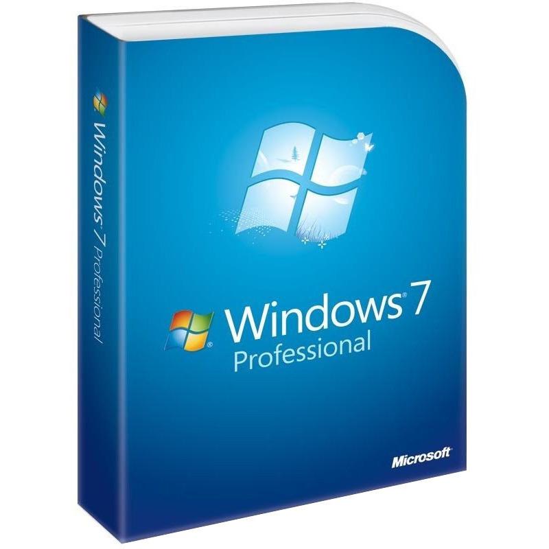 Operační systém MS Windows 7 Professional Operační systém, 32bit,x64 CZ legalizační sada GGK 6PC-00018