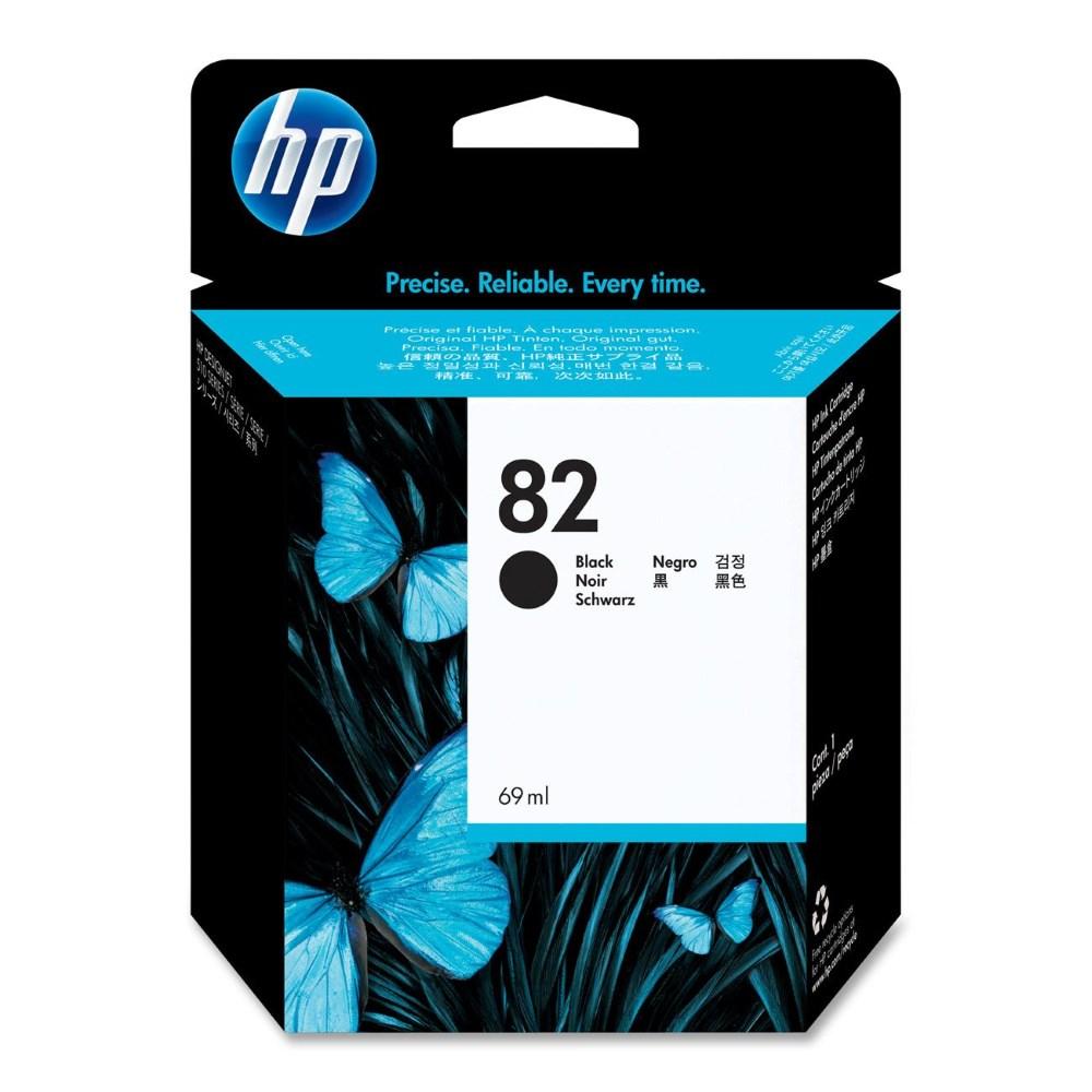 Inkoustová náplň HP 82 CH565A černá Inkoustová náplň, originální, pro HP Designjet 510, 111, černá CH565A