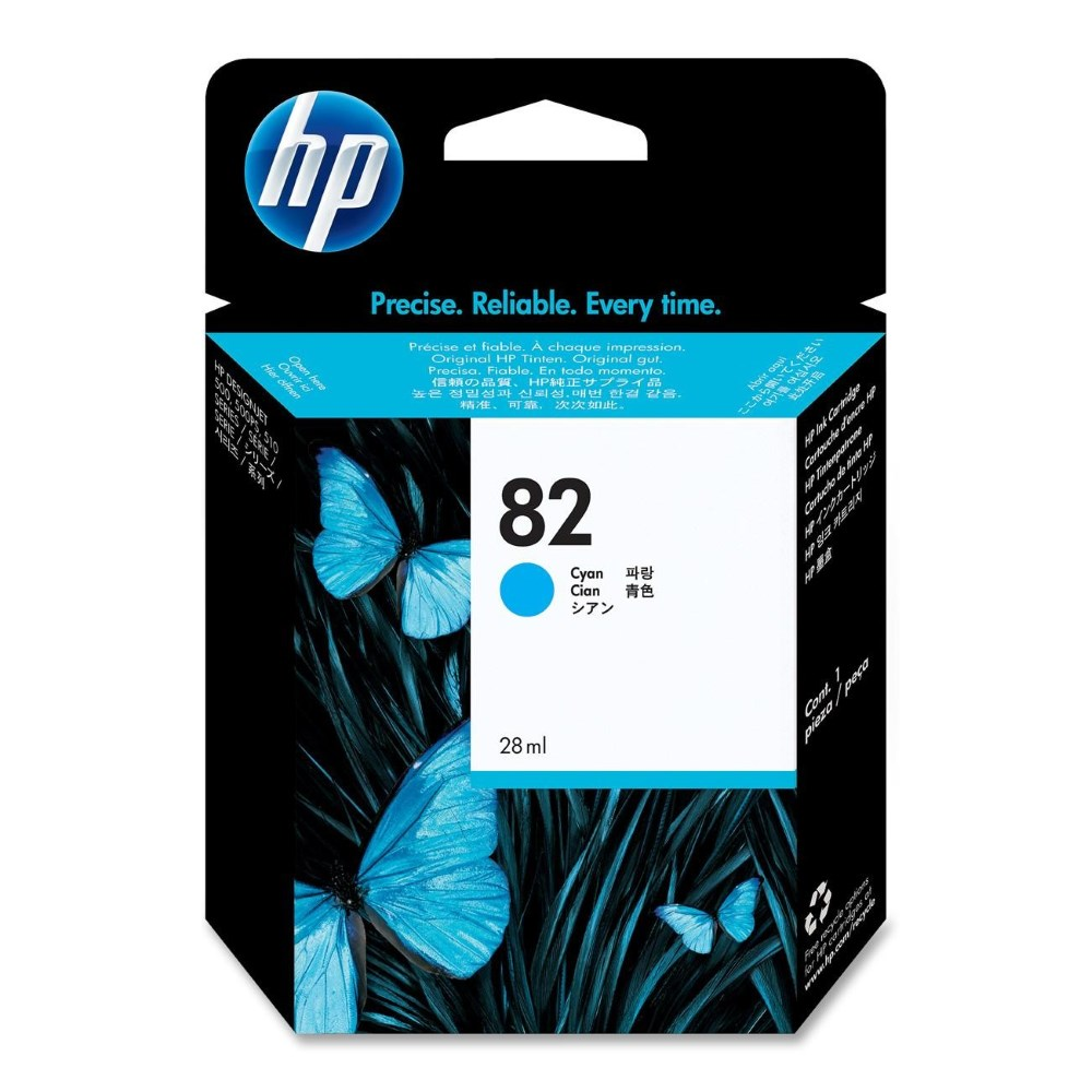 Inkoustová náplň HP 82 CH566A modrá Inkoustová náplň, originální, pro HP Designjet 510, 111, modrá CH566A