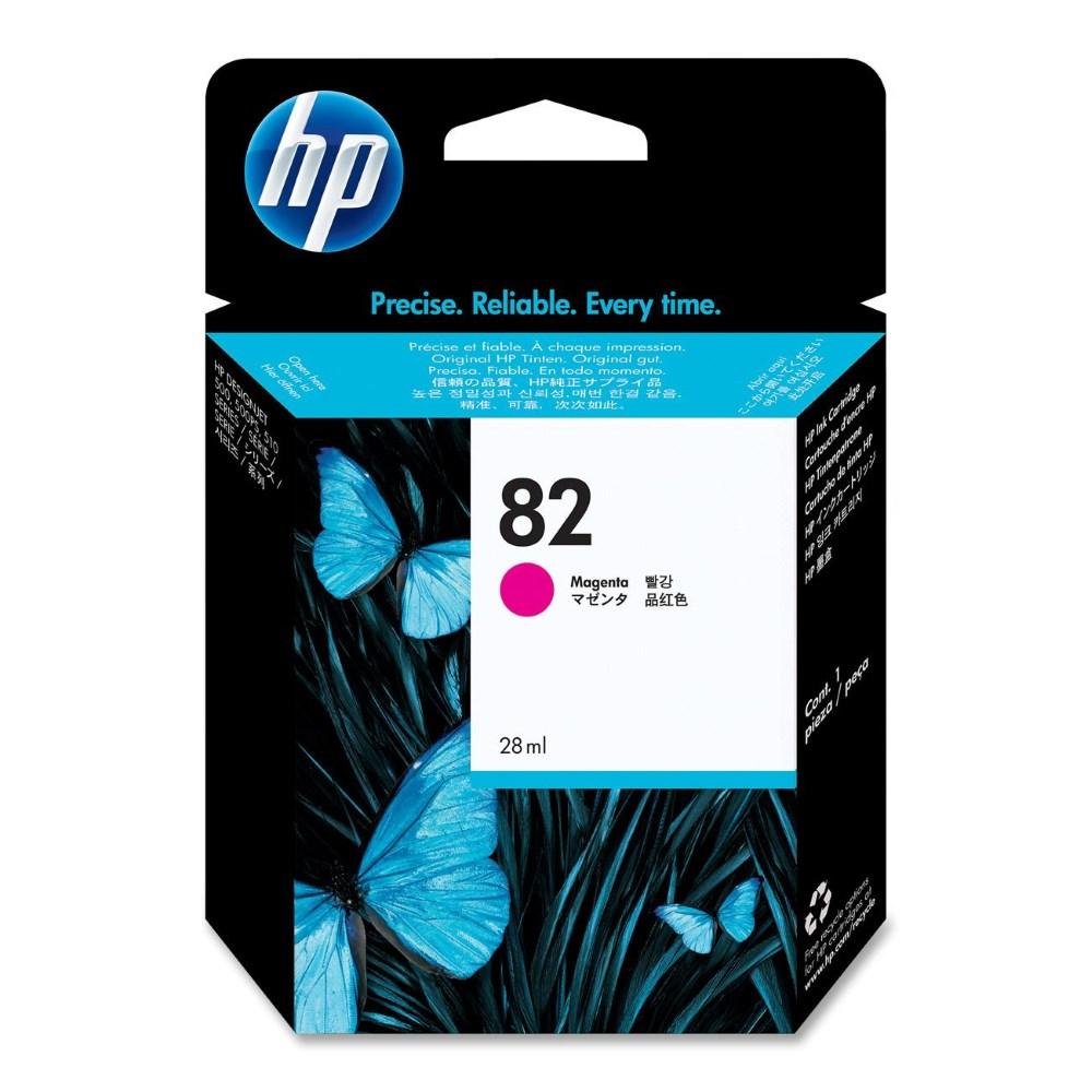 Inkoustová náplň HP 82 CH567A purpurová Inkoustová náplň, originální, pro HP Designjet 510, 111, purpurová CH567A
