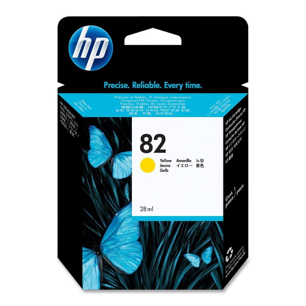 Inkoustová náplň HP 82 CH568A žlutá Inkoustová náplň, originální, pro HP Designjet 510, 111, žlutá CH568A