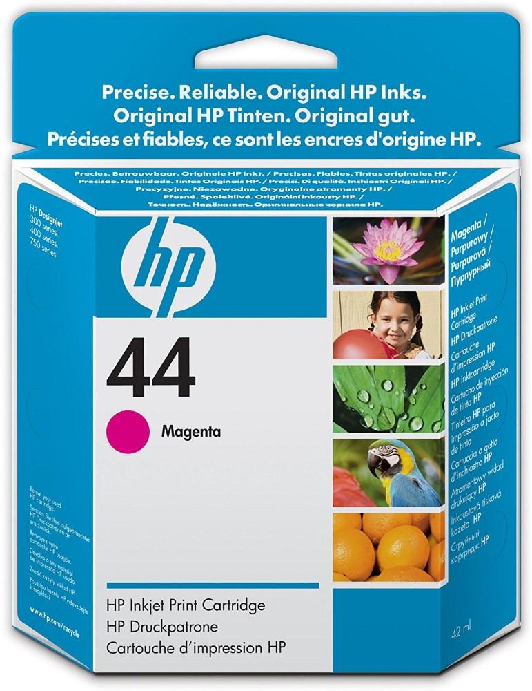 Inkoustová náplň HP 44 51644ME purpurová Inkoustová náplň, originální, pro HP Designjet 350, 450, 455, 488, 750, 755, purpurová 51644ME